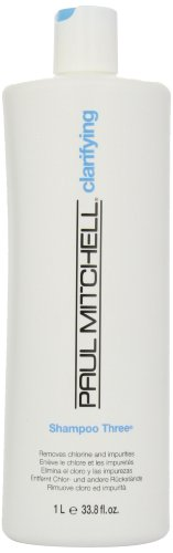 Paul Mitchell Shampoo Three, Removes Chlorine and Impurities, 33.8-ounce
