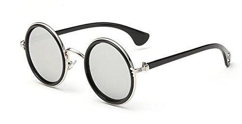 polarisées retro rond métallique style inspirées Mercure de lunettes du Comprimés de cercle vintage soleil Lennon en ERwqn7YcA