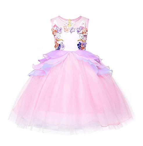 Girl Unicorn Tutu Dress Halloween Pageant Princess Costume
