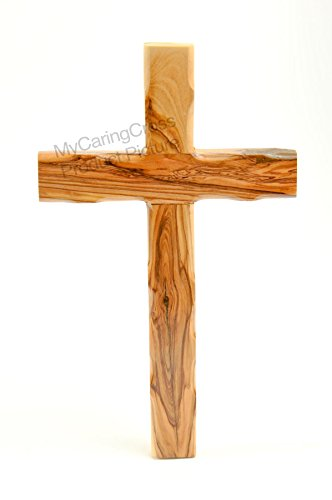 Genuine Bethlehem Olive Wood Knotted Wall Cross 10-1/4