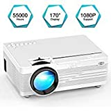 "Mini Projector, YABER LED Projector Home Theater Entertainment with 170"" Display Video Projector 1080P"