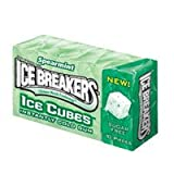 Ice Breakers Ice cubess Sugar Free Spearmint Gum, 10-Piece Boxes(Pack of 8)