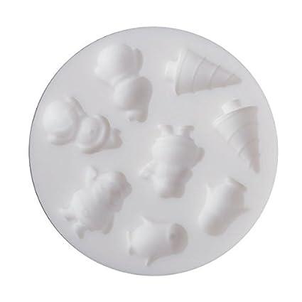 Mini Molde de Silicona para arcilla polimérica - Navidad