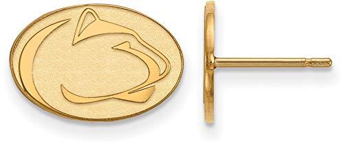 - Gold-Plated Sterling Silver Penn State University X-Small Post LogoArt Earrings