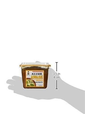 Miko - Awase Miso Soyabean Paste (Aka + Shiro) - 500 Gram - GMO Free Japanese Miso Paste by Miko