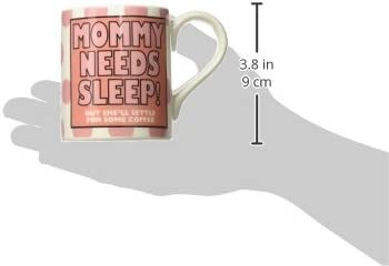 "12 oz Our Name is Mud /""Mommy and Daddy Sleep/"" Stoneware Mug Set Enesco 4057558"