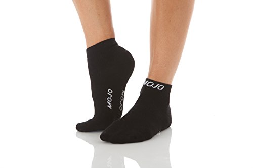 Mojo Athletic Compression Socks Ankle Length - Medium Support 15-20mmHg Black XL
