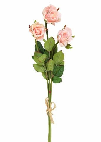 - Afloral Mini Real Touch Sweetheart Rose in Light Pastel Pink1.2\ Wide Bloom x 14\