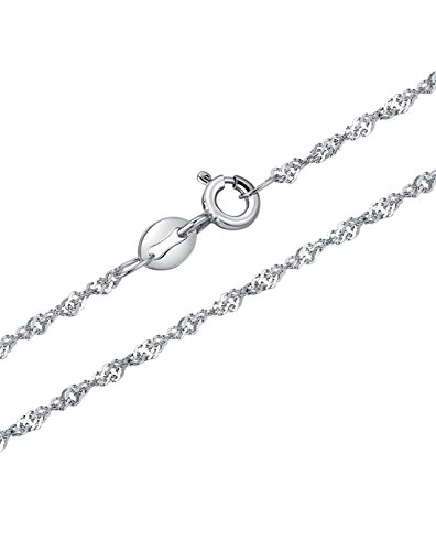NEOGLORY Conjunto de Joya Bolas de Nieves Collar Pendientes Plata de Ley 925 Joya Regalo Mujer Chica