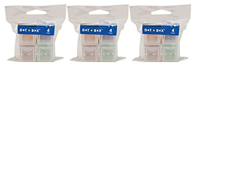 Cottage Mills Dot Box Refill Boxes, 4/Pkg, Large 1-1/4-Inch by 1-1/4-Inch by (Dot Box)
