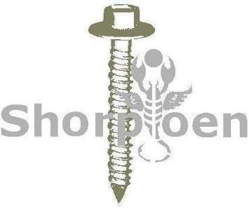 Pack of 50 SHORPIOEN Concrete Screw Hex Flanged Bronze 1//4 x 2-1//4 BC-1436CNHFBZ-50