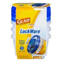 Glad LockWare Extra Small Containers & Lids , Pack of 8