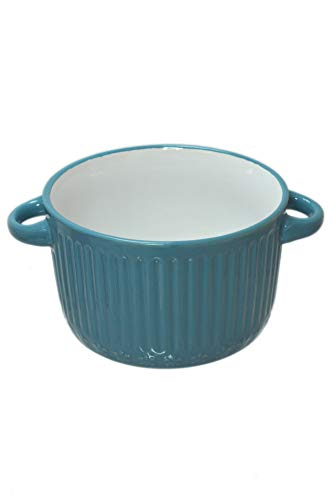 Set 4 Assorted Color Stoneware 18oz Oven Dish French Onion Soup Bowls with Handles
