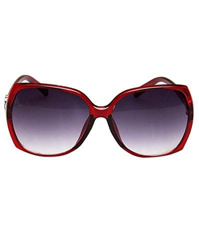 Moda Deportivas Retro Rojo UV400 Lente Gafas MissFox de Sol Mujer Sunglasses única Talla wUqUzCv