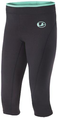 Ultrasport Damen 3/4 Fitnesshose, grey/mint, L, 10318