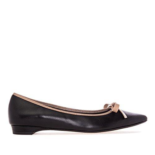 Andres Machado.maria.ballet Lägenheter I Leather.made I Spain.womens Små Och Stora Szs: Us 2-5 -us 10,5-13 Svart Läder