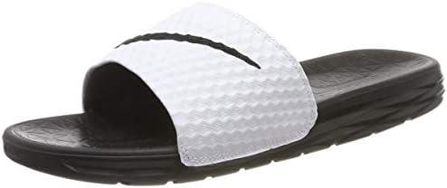 the latest 045e2 c78e0 Nike Benassi Solarsoft, Men's Slippers, (White/Black 100 ...
