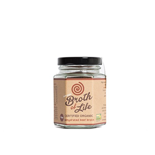 Organic Beef Bone Broth Powder - Supports Joint Health, Boost Immunity - Fresh, Natural Ingredients for Delicious Paleo & Gluten Free Diet Friendly Dehydrated Powdered Broth Soup Stock - 1.6oz