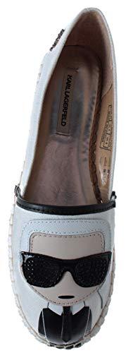 Zapatos Espadrillas Kamini Mujer Slip On Blanco Nueve Lagerfeld Ikonic Karl Cwq5xSRF