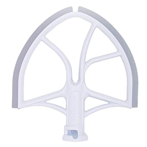 AIZARA Flex Edge Beater for KitchenAid Bowl-Lift Stand Mixer 6 Quart Flat Beater with Silicone Edges for 6 QT Kitchen Aid Stand Mixer,Bowl Scraper Blade Paddle