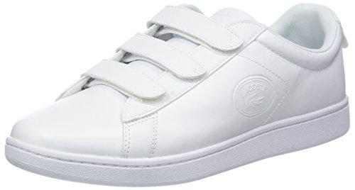 Hommes Lacoste Carnaby Evo Sangle 318 3 Blanc Chaussure De Spm (21g Wht / Blanc)
