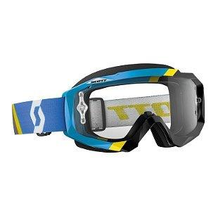 Scott Hustle Asymmetric Goggles - Blue/Black/Clear Works / One Size - Asymmetric Buckle