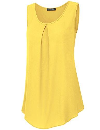 Vinmatto Womens Sleeveless Pleated Chiffon product image