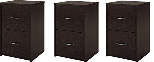 3 drawer espresso file cabinet - 2
