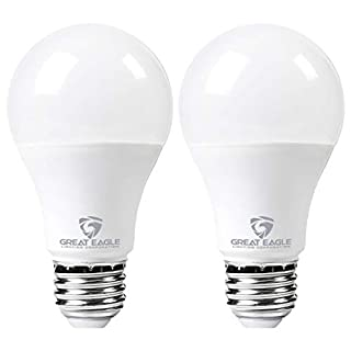 Great Eagle LED 23W Light Bulb (Replaces 150W – 200W) A21 Size with 2625 Lumens, Dimmable, 4000K Cool White, UL Listed (2-Pack)