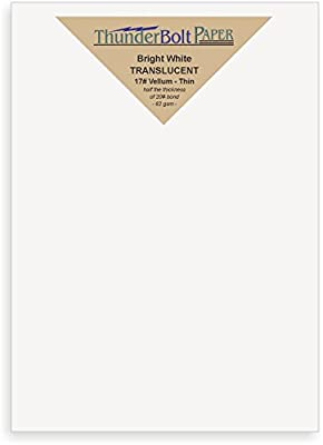 "150 Bright White Translucent 17# Thin Sheets - 5"" X 7"" (5X7 Inches) Photo