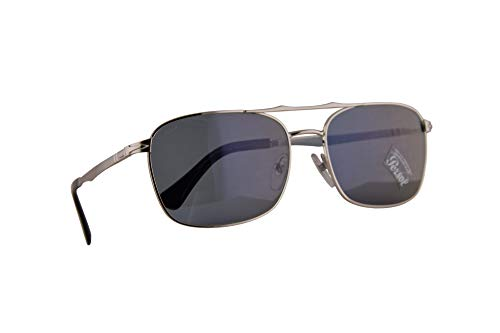 Persol 2454-S Sunglasses Silver w/Light Blue Lens 60mm 51856 PO 2454S PO2454S - Persol Sunglasses Silver