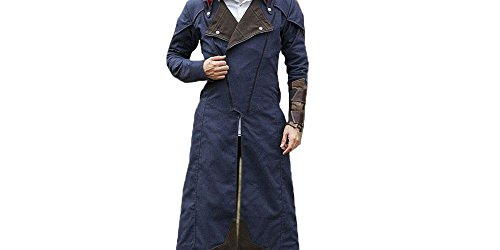 Arno Assassin's Creed Costume (Outfitter Jackets Assassin's Creed Unity Arno Dorian Denim Cloak Costume jacket Blue (L, Blue))