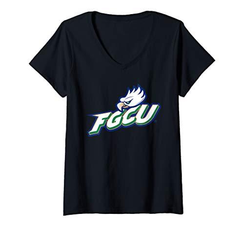 (Womens FGCU Eagles College NCAA PPFGC03 V-Neck T-Shirt)
