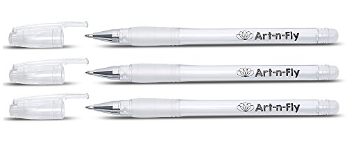 Fine Point White Gel Pen For Artists With Archival Ink Fine Tip Sketching Pens Drawing Illustration (3, White)