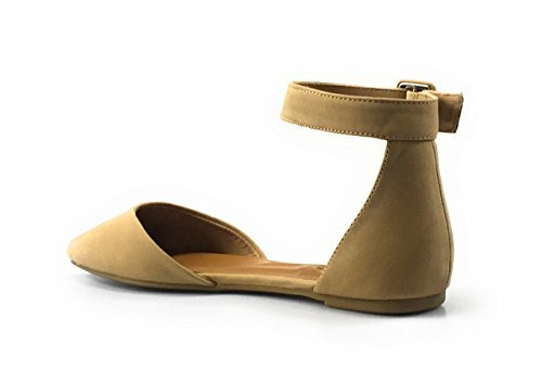 Casual Slip Op Dameslaarzen Van Bamboe Dames Suède Instappers Comfortabele Bootschoenen Beige-nubuck