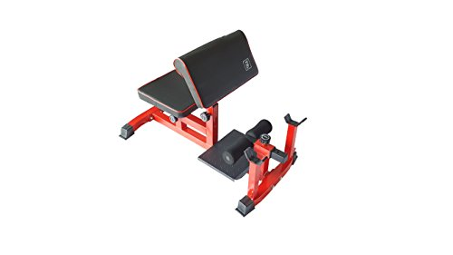 NBpower Sissy Squat Machine Bench Vertical Squat Sit-up Crunch Biceps Abdominal Muscle Training Abs Workout Home Gym Squat Stand Machine-RED