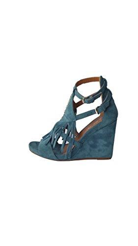 Sandalo Dee Frange Donna Con E Zeppa Jeans Camoscio Julie J6035 qHFEE