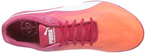 Puma Evospeed Sprint V6 Wn - Zapatillas de Entrenamiento Mujer Naranja - Orange (fluo peach-white-rose red 01)