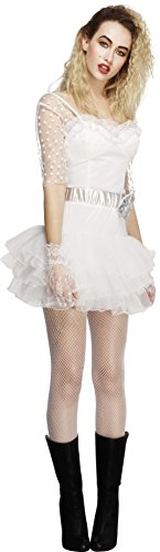 Smiffy's Women's Fever 80's Chick Costume, Lace Tutu Dress, Retro, Fever, Size 14-16, (80's Chick Costume)