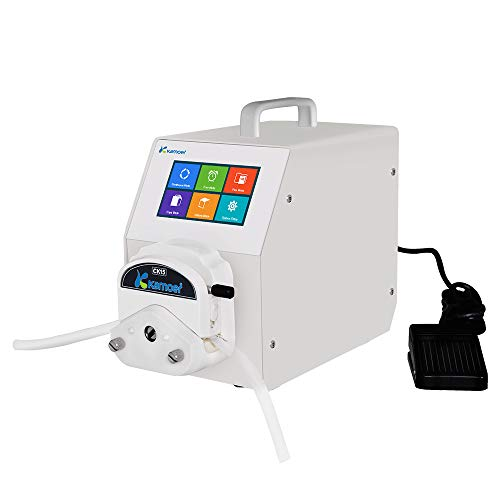 Kamoer Lab UIP Stepper Motor Peristaltic Pump (3 Rollers, 1-1300ml/min, 110V-220V AC, Foot Switch Support, Friendly Interface, White)