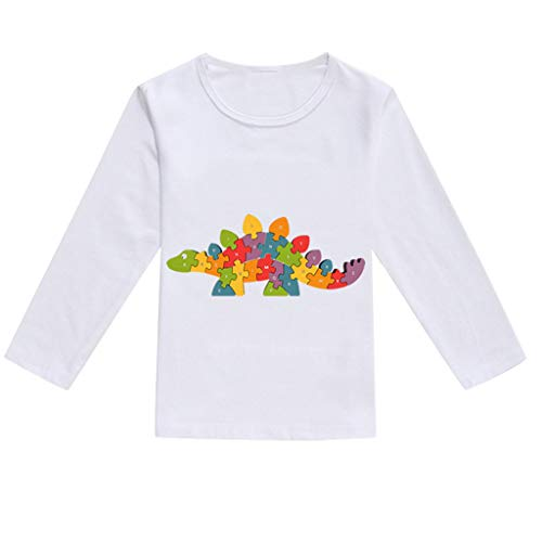 NUWFOR Toddler Baby Kids Boys Girls Spring Dinosaur Print Tops T-Shirt Casual Clothes(Multicolor,2-3 Years) by NUWFOR (Image #1)