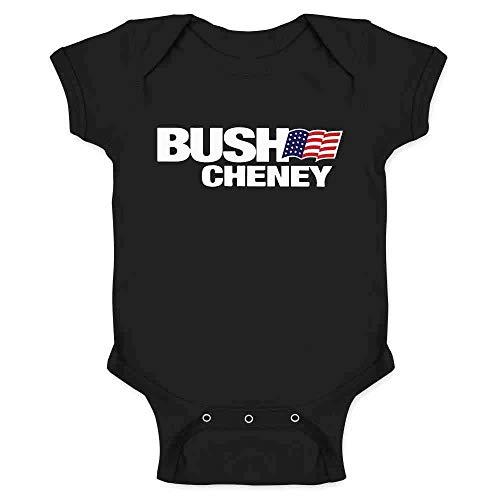 Bush Cheney Sticker - Pop Threads George W Bush Dick Cheney President Campaign Retro Black 6M Infant Bodysuit