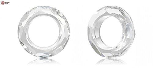 スワロフスキー Cosmic Ring ファンシーストーン (4139) 30mm - クリスタル 裏面にホイル無し x 18粒