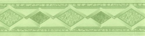 Selbstklebende Tapetenbordüre 3547-04 grün