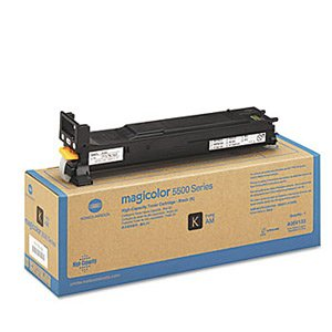 Konica Minolta Genuine Brand Name, OEM A06V133 High Capacity Black Toner Cartridge (12K YLD) for Magicolor 5550, Magicolor 5570, Magicolor 5650, Magicolor 5670 Printers (Toner Black 5570)