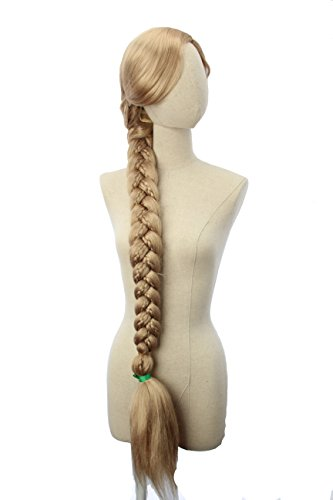 47 inch Long Blonde Braided Cosplay Anime Costume Heat Resistant Wig]()