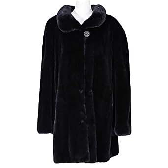 Costa Brown Fur Babydoll Coat For Women