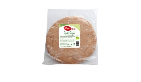 BASES DE ESPELTA INTEGRAL PARA PIZZA BIO, 2 Und. 300 g: Amazon.es ...