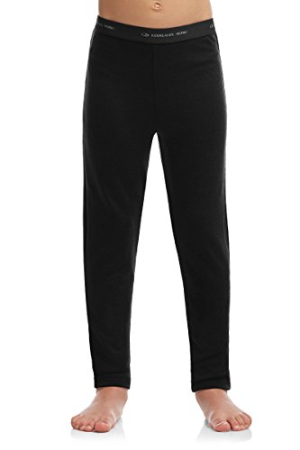 Icebreaker Kids Compass Leggings, Black/Blizzard Heather, 12 by Icebreaker Merino