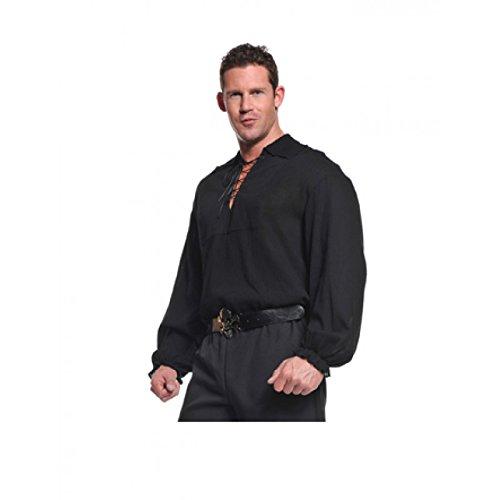 Pirate Costume Black Shirt (Underwraps Costumes  Men's Renaissance Pirate Shirt, Black, One Size)